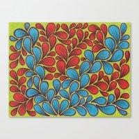 good vibes Canvas Prints featuring Good Vibes by Sarah J Bierman