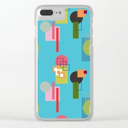 Mid Century Modern Pattern 4 Clear iPhone Case