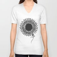 sunflower V-neck T-shirts featuring Sunflower by kocha studio™