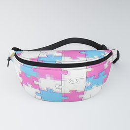 aesthetic puzzle pattern Fanny Pack