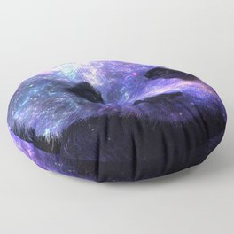 Galaxy Panda Space Colorful Floor Pillow