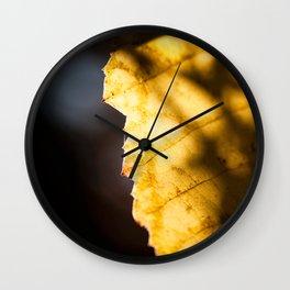 Grape Leaf Shadows Wall Clock