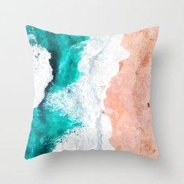 Beach Illustration Throw Pillow