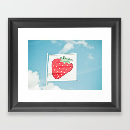 Strawberry Sky Framed Art Print