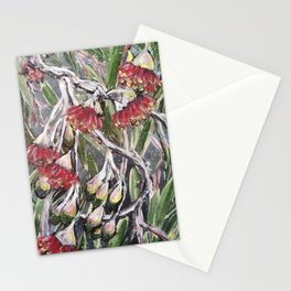 EUCALYPTUS FLOWERS - Original Floral painting by HSIN LIN / HSIN LIN ART Stationery Cards