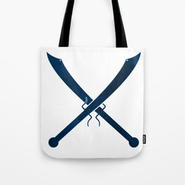 Blue Chinese Swords Tote Bag
