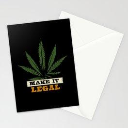 Marijuana Make It Legal Stationery Cards