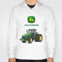 john green Hoodies featuring John Deere Green Tractor by rumahcreative