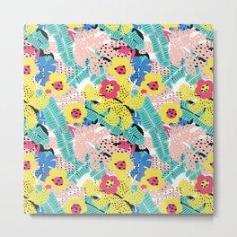 Tropical floral pattern Metal Print