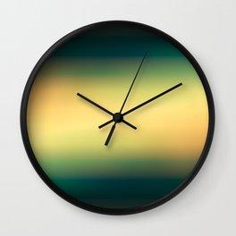 Darken color gradient background Wall Clock