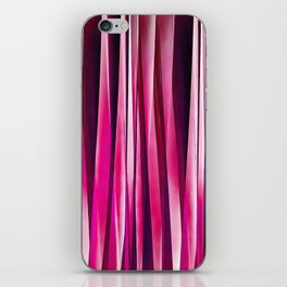 Burgundy Rose Stripy Lines Pattern iPhone Skin