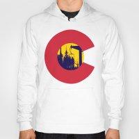 colorado Hoodies featuring Colorado by The Raff