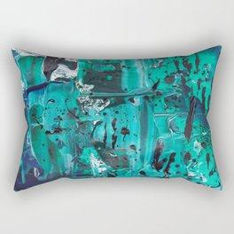 Pthalo Dance Rectangular Pillow
