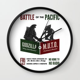 Battle of the Pacific Wall Clock