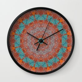 Hen Feathers 1 Wall Clock
