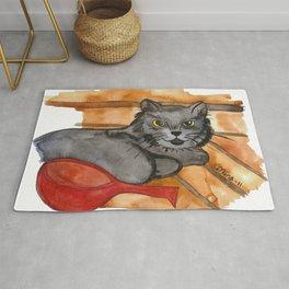 Cat in the Sauna Rug