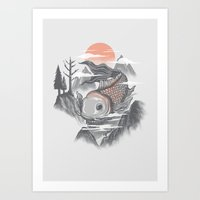 koi fish Art Prints featuring koi fish by itssummer85