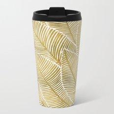 Tropical Gold Metal Travel Mug