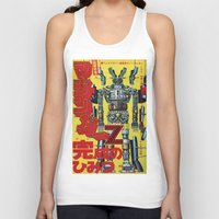 manga Tank Tops featuring Manga 01 by Zuno