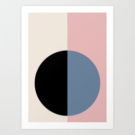 Color Block Abstract XVI Art Print