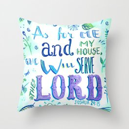 Purple and Blue Bible Verse Throw Pillow