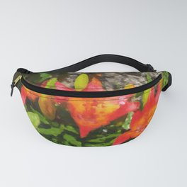 Red Lilies in the Garden No. 1 Fanny Pack