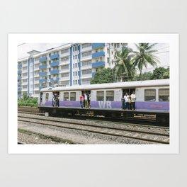 MUMBAI SUBWAY Art Print