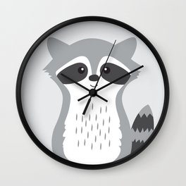 Woodland Animal - Raccoon Wall Clock