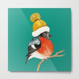 Christmas Bird Bullfinch Metal Print