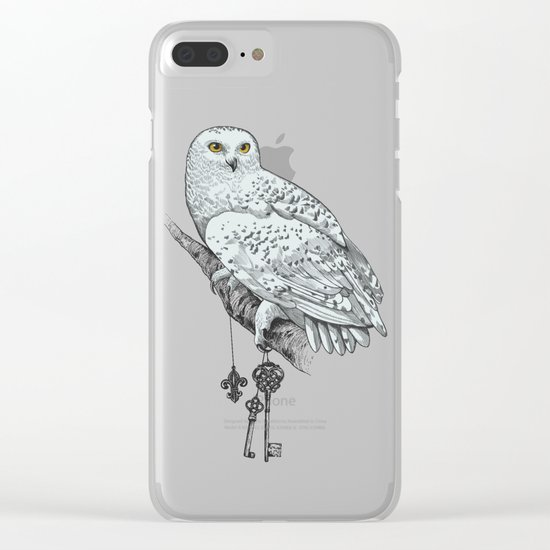 Secrets of the Snowy Owl Clear iPhone Case