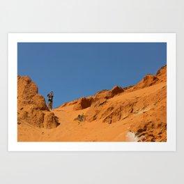 Red canyon Art Print