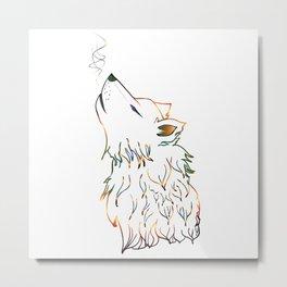 Lone wolf sketch Metal Print