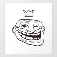 vector cartoon face. Isolated eps 10  Art Print