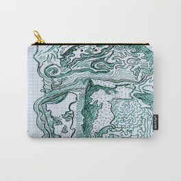 Encre vert Carry-All Pouch