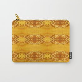 Golden Hibiscus Abstract Pattern Carry-All Pouch