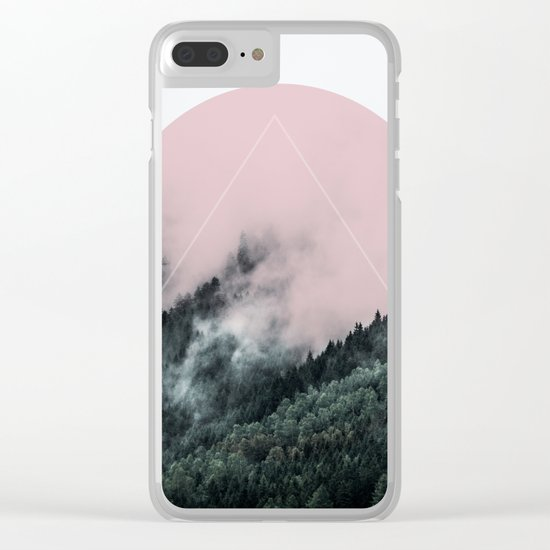 Foggy Woods 2 Clear iPhone Case