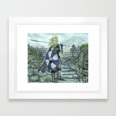 The Shieldmaiden Framed Art Print