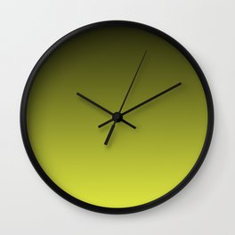 Olive Ombre. Wall Clock