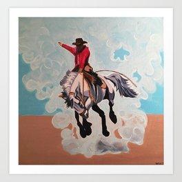 Texas Cowboy Art Print