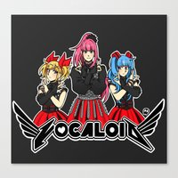 vocaloid Canvas Prints featuring Vocaloid / Babymetal by Tigers and Daises (LadyBeemer)