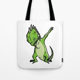 Funny Dabbing Iguana Reptile Dab Dance Tote Bag