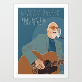 Graham Parker Art Print