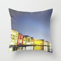 the shining Throw Pillows featuring shining night. by zenitt