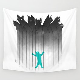 Clowder (Black) Wall Tapestry