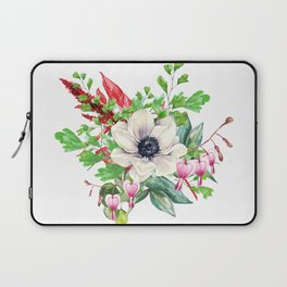 Gentille watercolor handpainted clipart, floral, flower, design, stylish, wedding, invitation Laptop Sleeve