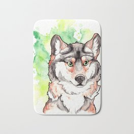 Mexican Gray Wolf Bust Bath Mat