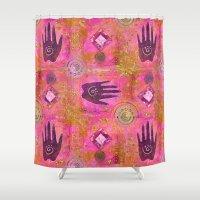 hands Shower Curtains featuring Hands by LebensART