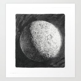 Moon Study, Saturn Art Print