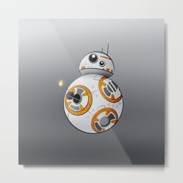 War in the Stars -- BB-8 Metal Print