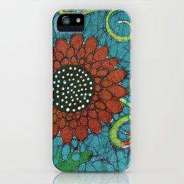Kate's Flower Batik iPhone Case